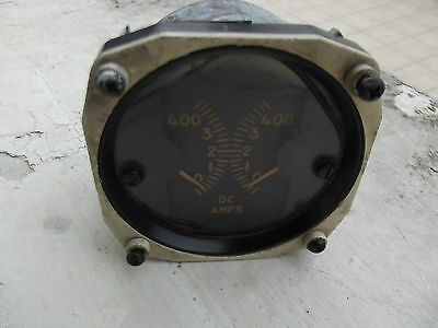 WW2 USAAF AMPS D C Indicator 50's by THE HICKOX INSTRUMENTS ELECTRICAL.CO avion
