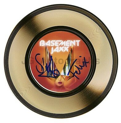 """Basement Jaxx - British Electronic Duo - Authentic Autographed 7"""" Gold Record"""