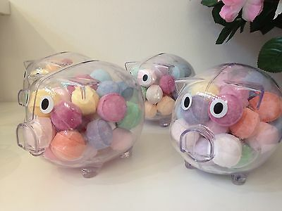 Mini Marble/Chill Pill Bath Bomb Pig Money Box. Birthday/Christmas Gifts