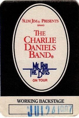 Charlie Daniels Band Original 1987 Me And The Boys Tour  Working Backstage Pass