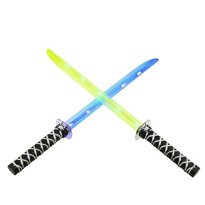 Ninja Sword Toy Light-Up LED Deluxe with Motion Activated Clanging Sounds Kids