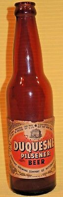 VERY RARE 1944 DUQUESNE of PITTSBURGH PENNA PILSENER BEER 12oz BOTTLE