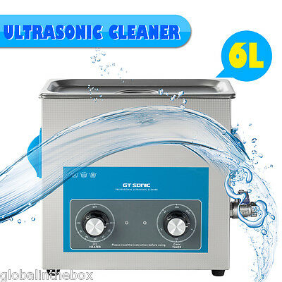 6L 150W Ultrasonic Cleaner Jewelry Cleaner Dental Cleaner Heat +Digtial+Timer EU