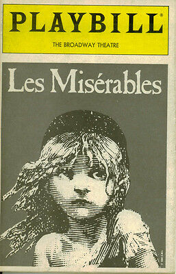 Les Miserables Broadway Playbill - Tim Shew, Randy Graff