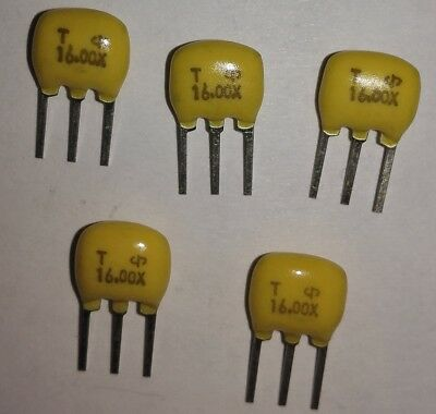 5pcs 16MHZ Ceramic Resonator, ATMEL, ARDUINO, AVR, PIC, NANO, Prototyping, Maker