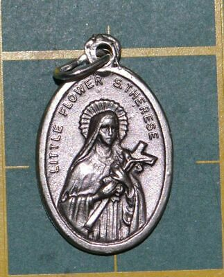 SAINT THERESA Medal Pendant, SILVER TONE, 22mm X 15mm, MADE IN ITALY