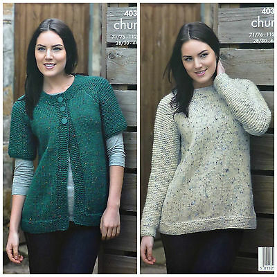 KNITTING PATTERN Ladies Very EASY KNIT Jacket & Jumper Chunky King Cole 4038