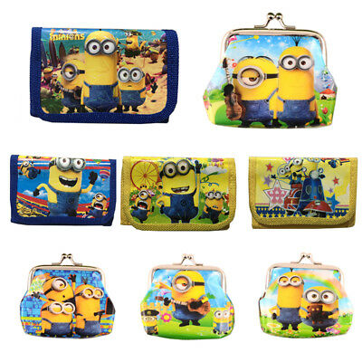 Unicorn Cars Despicable Me Minions Boys Wallet Trifold Zip Coin Purse Kids Party