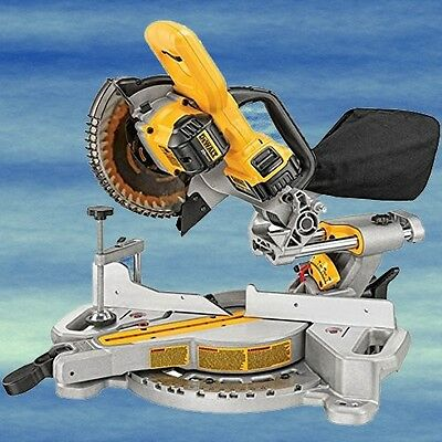 TOP DEWALT Cordless Miter Saw 20V Portable Single Bevel Lightweight LED #4319