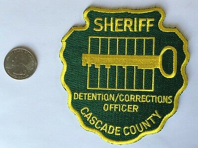 Cascade County Montana Sheriffs Dept Detention Corrections Officer Police Patch