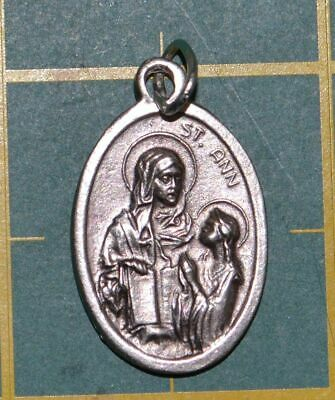 SAINT ANN Medal Pendant, SILVER TONE, 22mm X 15mm, MADE IN ITALY