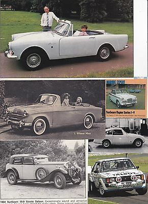 125 LOT Vintage Rootes, Sunbeam, Hillman, Great Variety of Magazine Clips