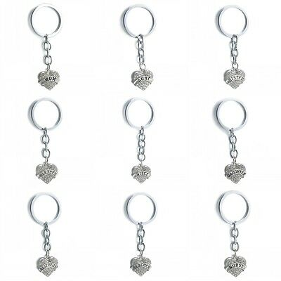 1Pcs Creative Crystal Heart Family Member Keychain Keyring Pendant Friends Gifts