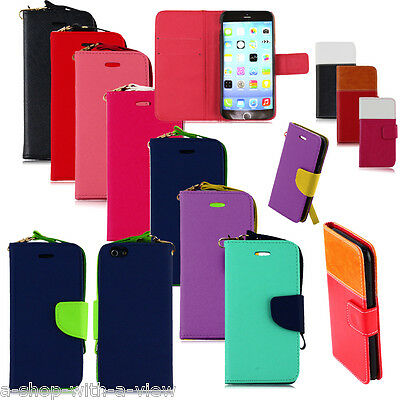Wholesale Lot of 10 pcs Leather Wallet Cases Covers Skins for Apple iPhone 6 6S