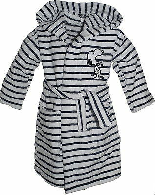 100% Cotton Knee Length Bathrobe Snoopy Various Sizes Ex Brand Navy White Stripe