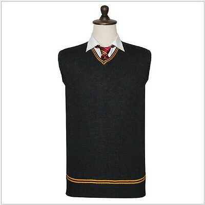 Harry Potter Sweater Gryffindor V Neck Slytherin Sweater Waistcoat Daily Clothes