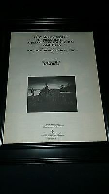 Mark Knopfler Going Home Local Hero Rare Original Promo Poster Ad Framed!