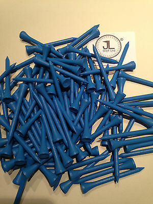 "1000 JL Golf blue wooden tees 69 / 70mm long (2 3/4"") *NEW* Xmas gift  fathers"