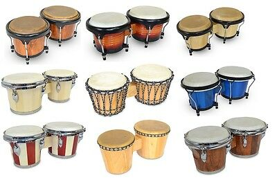 PRO BONGOS bongo drums latin percussion drum congo percussive cow skin hembra