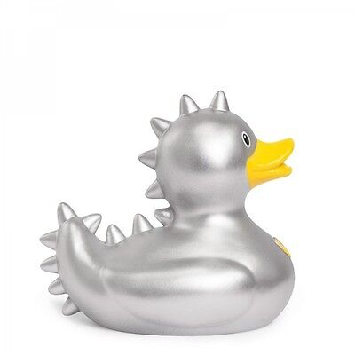 *NEW* Novelty DESIGNER BUD Rubber Bath Duck STUD SILVER ALIEN Deluxe