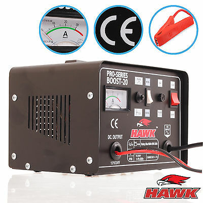 20 Amp Hawk 230V 12V 24V 20A Car Van Battery Boost Booster Fast Charge Charger