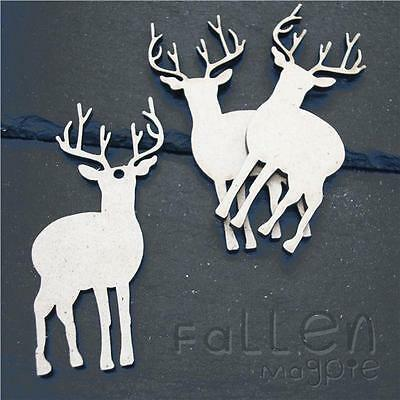 Wooden Stag Antlers Shapes Embellishments Craft MDF Wood Tags Blanks 80mm 120mm