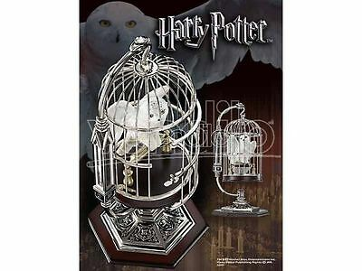 Harry Potter Miniature Hedwig In Cage With Display Stand Noble Collection NN7098