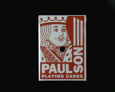 """Casino Dealer Holed Cancelled Deck of Playing Cards from """"Paragon Casino""""  USED"""