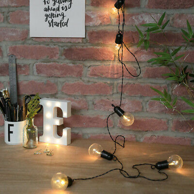 Battery Power LED Party Festoon Fairy Lights with Timer | Outdoor Garden Globe