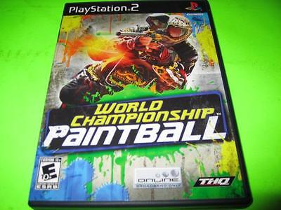 World Championship Paintball ~ Sony Playstation 2 (Ps2) Game & Case