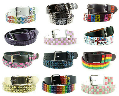 New Wholesale Lot of 144 Studded Belts, Assorted Styles, Sizes and Colors!