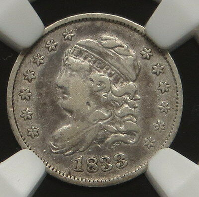 1833 Capped Bust Half Dime, NGC Certified VF DETAILS