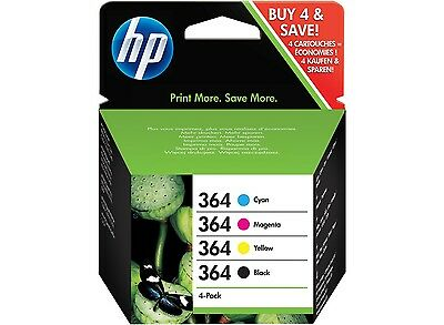 4 Cartuchos Tinta HP 364 Pack ORIGINAL Color Negro ORIGINALES Impresora J3M82AE