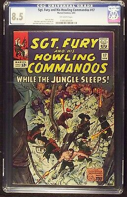 Sgt. Fury And His Howling Commandos #17 Cgc Graded 8.5 Off-White Pages
