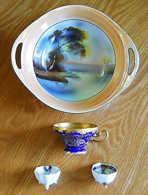 Vintage Noritake' & Wako Fine China*4 Pieces For One Price Beautiful Antiques