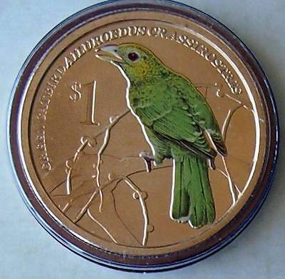 2013 Tuvalu Songbirds $1 Unc Mint Coin - Not Issued For Circulation