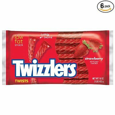 Twizzlers Twists, Strawberry, 16-Ounce Bags by Twizzlers  10001191 FREE SHIPPING
