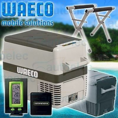 New Model Waeco Cf40 Ac Verb Vmso Fridge Freezer + Cover+ Stand+Thermometer