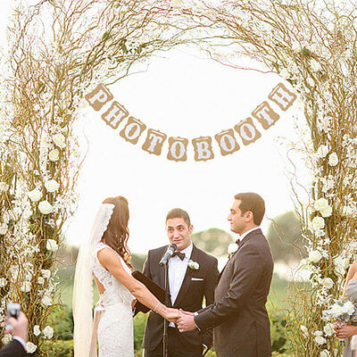 Photo Booth Bunting Vintage Rustic Wedding Engagement  Party Banner Prop Decor