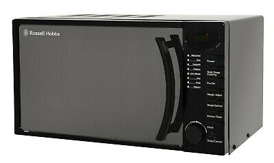 Russell Hobbs 17L Black Digital Microwave, 5 Power Levels, 700W, RHM1714B
