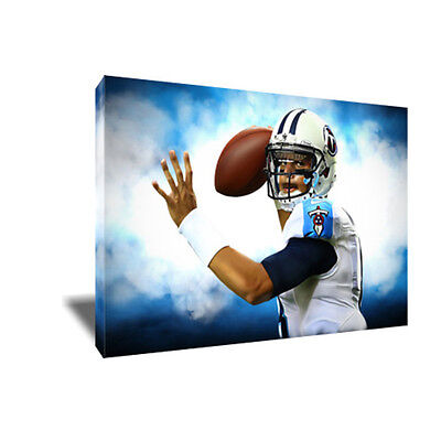 Tennessee Titans MARCUS MARIOTA Poster Photo Painting Artwork on CANVAS Wall Art