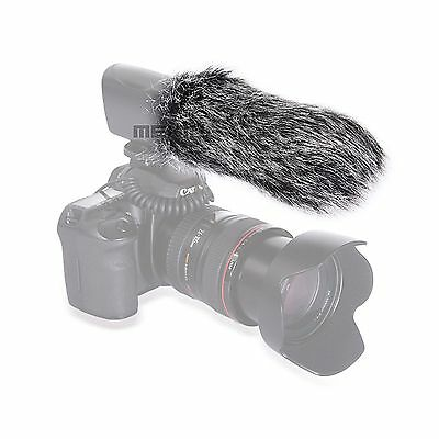 20cm Microphone Mic Windshield Fur Wind Muff For Camera Recorder