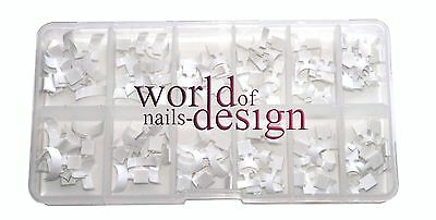 "Mini French -White-Tips ""small"" 120 pcs ,weisse French-Tips für die Nagelspitze"
