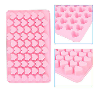 Silicone Mini 55 Heart Cake Chocolate Cookie Baking Mould Mold Jelly Baking Tray
