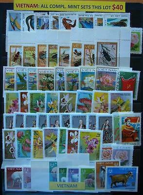 Vietnam Different Mint Stamps All Complete Sets - Special Lot #1