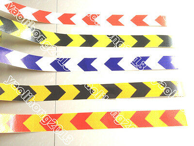 Safety Arrow Reflective Caution Warning Tape Sticker For Road Stair Way Garage