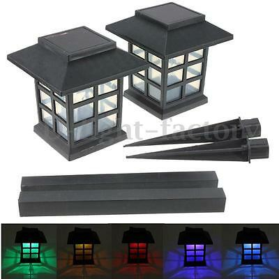 2x LED Solar Powered Landscape Light Lawn Garden Walkway Yard Stake Lamp Outdoor