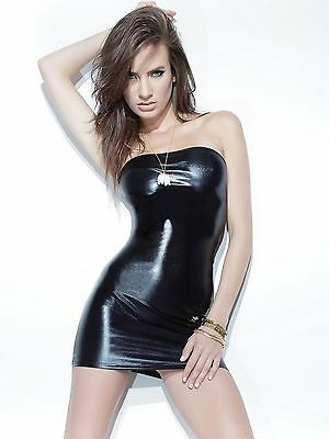 COQUETTE D948 Darque Wet Look Kleid Minikleid Dessous Bodycon