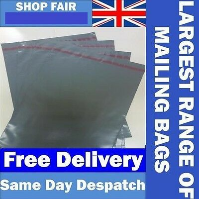 Grey Mailing Postage Poly Plastic Mailers Envelopes Bags *UK Made* FREE EU POST