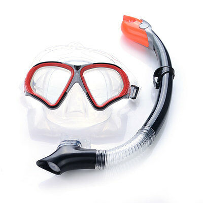 Brand New Mask & Snorkel Set Tempered Glass Silicone Semi Dry Top for Adult
